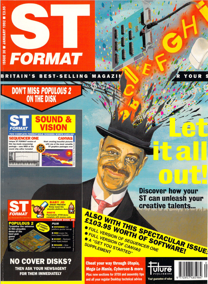 The cover of ST Format #30, January 1992