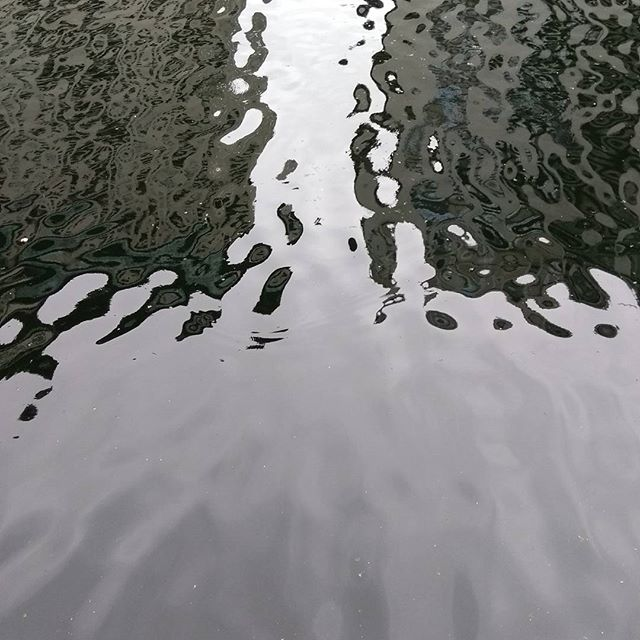 The view from Canary Wharf, London. I liked the patterns on the water