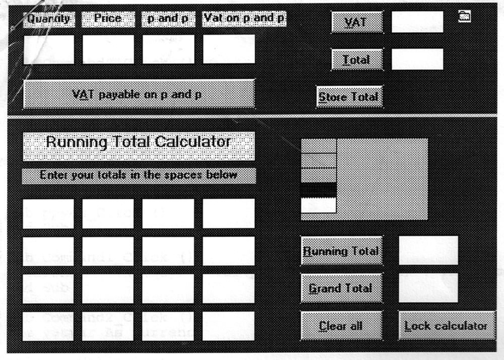 A screenshot of a print-out of a screenshot