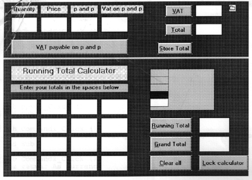 A screenshot of my calculator, by Terry Freedman