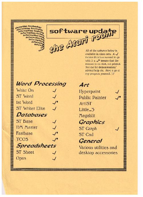 The Atari room software poster