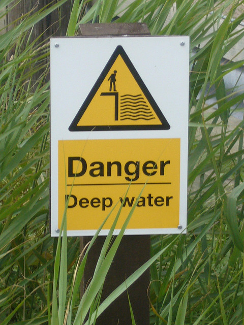 Danger: deep water. Photo by Terry Freedman