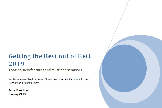 Pick up your free  unofficial  Bett guide at  http://bit.ly/TFBett19