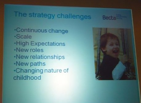 Forward to the past? Becta's startegy challenges. Photo by Terry Freedman