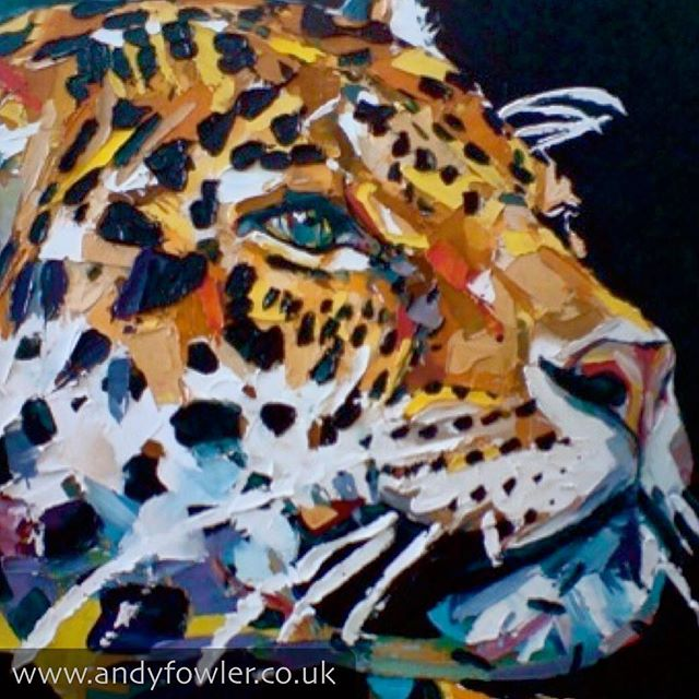 From the archives... #jaguar #jaguarpainting #palletknifepainting #oilpainting #painting #wildlifeart #wildlifeartist #andyfowler #andyfowlerart #andyfowlerartist