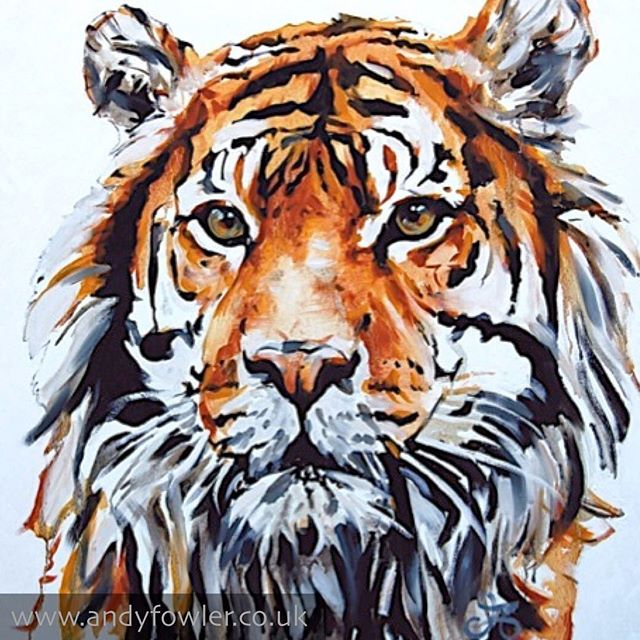 From the archives... #tiger #tigerpainting #palletknifepainting #oilpainting #painting #wildlifeart #wildlifeartist #andyfowler #andyfowlerart #andyfowlerartist