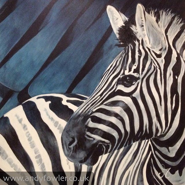 Meet #mbizi / #tembo / #zebra with #mbira My #painting #zebrapainting - #artist #wildlifeartist #andyfowler #andyfowlerart #andyfowlerartist