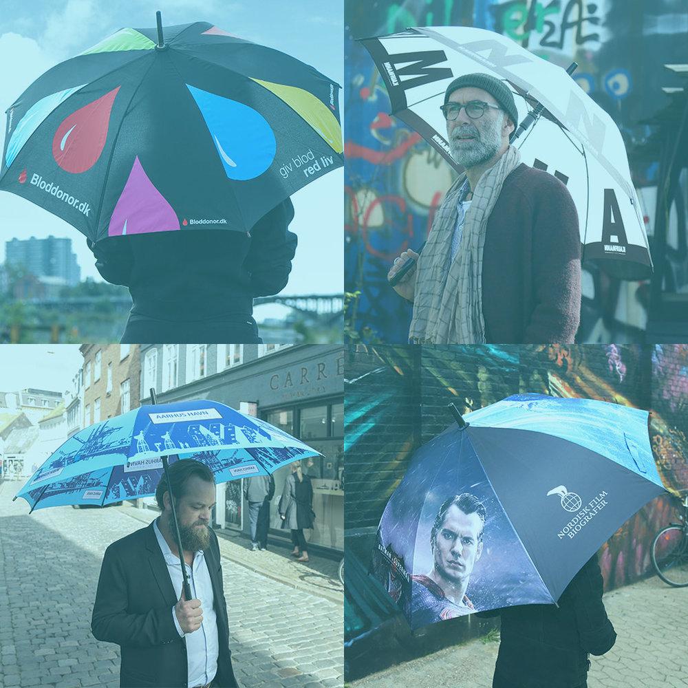 Paraplyer med logo