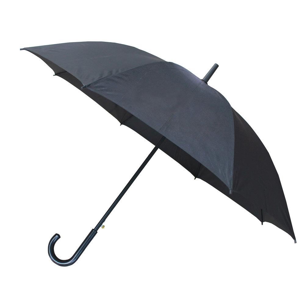 Klassisk paraply, metal & plastik