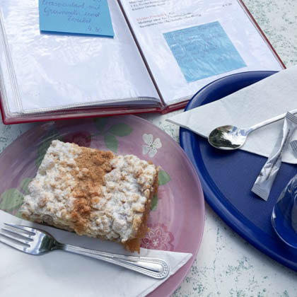 APfelstreuselkuchen mit Zimt. hm.