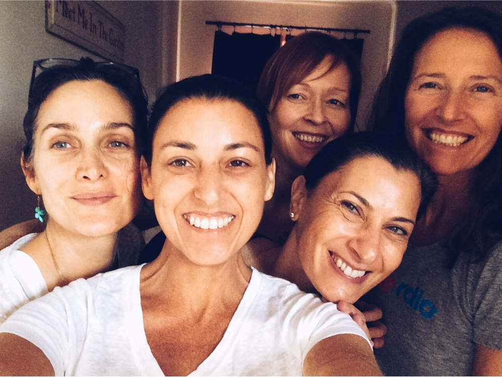 With the divine women in my yoga class. Photo by Catherine Just.