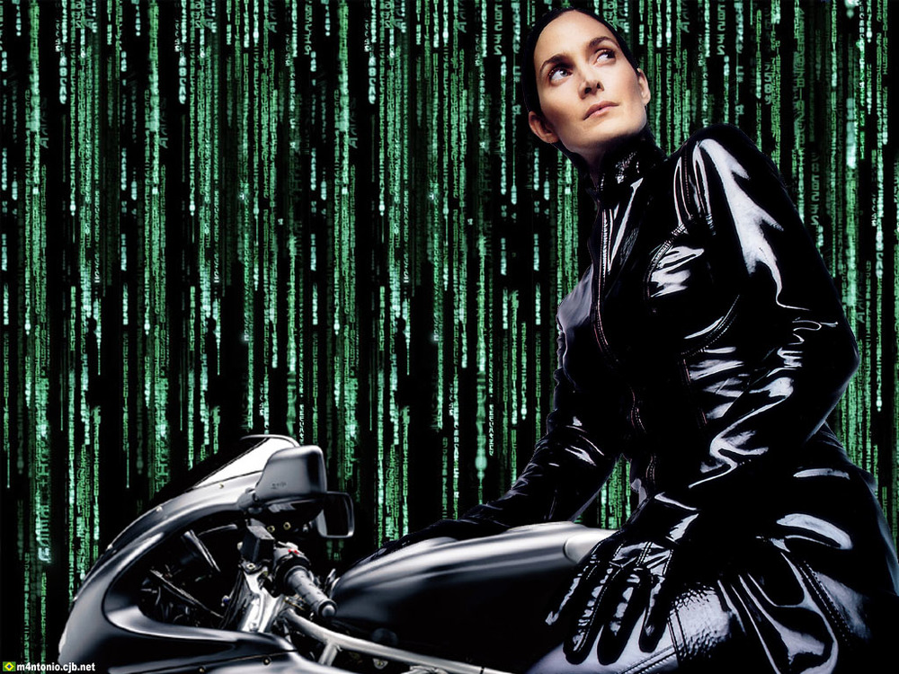 Carrie Anne Moss as Trinity in The Matrix