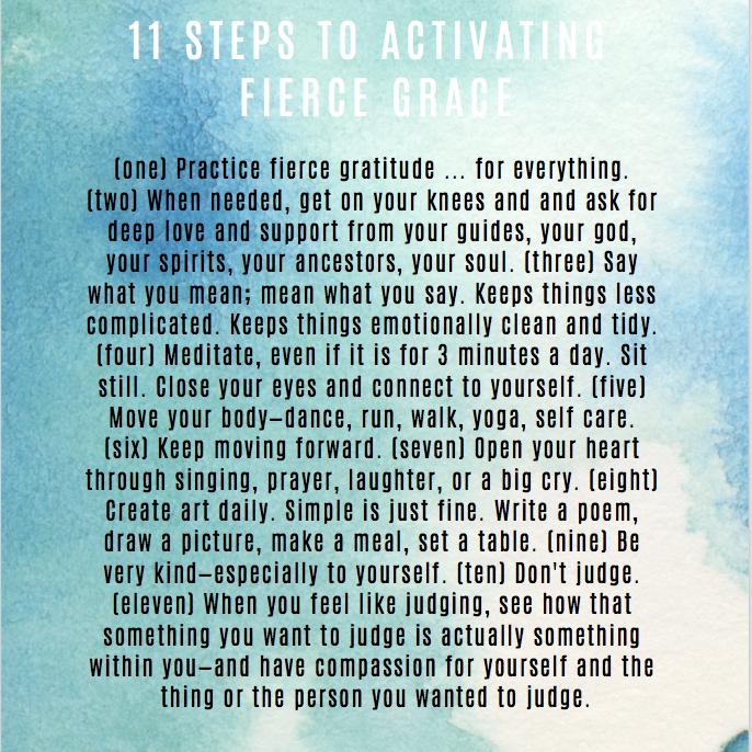 11 steps to fierce grace