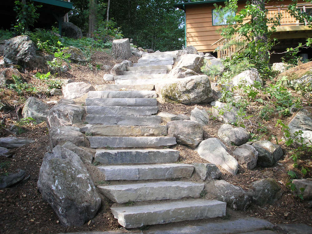 4 Foot Granite Stairs
