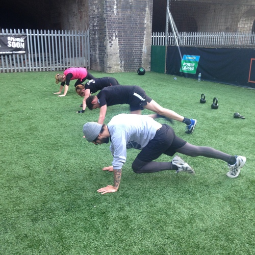 Using bodyweight exerciseswith HIIT over at BaseFit in Shoreditch.