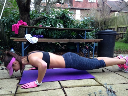 You can do Tabata at home or in your garden!