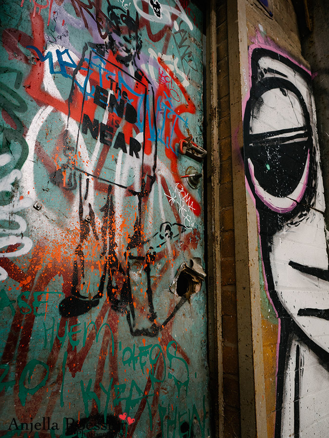 Every inch of The Powerhouse is covered in colourful graffiti art
