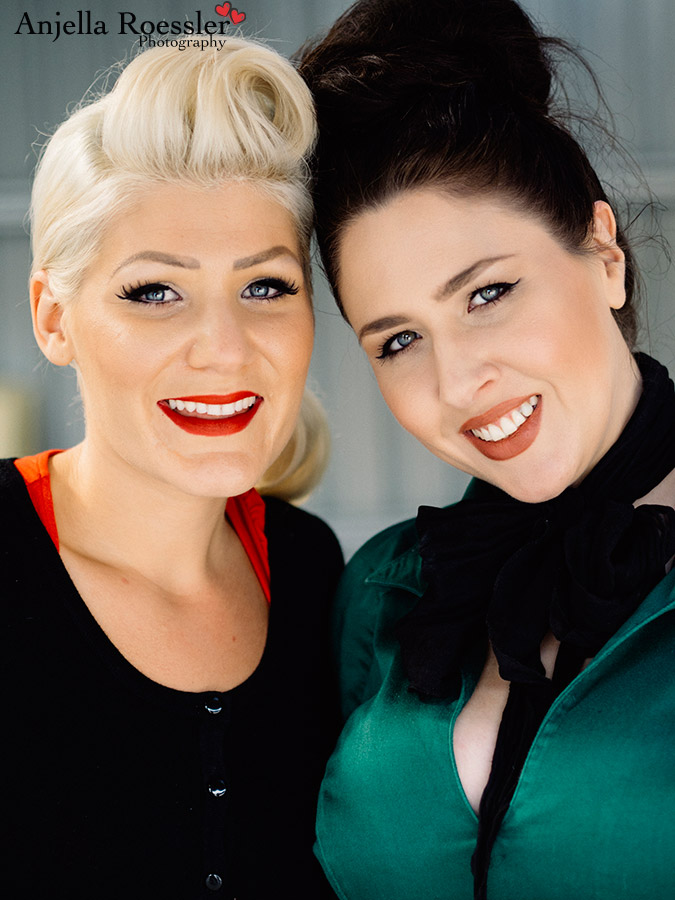 Kez and Gemma from Bang Bang Beauty bar. Such talented specialists in vintage hair and makeup!