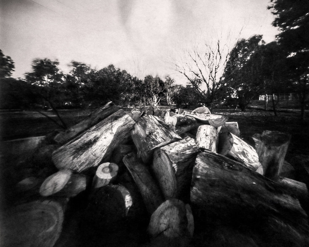 Reality So Subtle 4x5 Pinhole on paper negative, developed in Caffenol.
