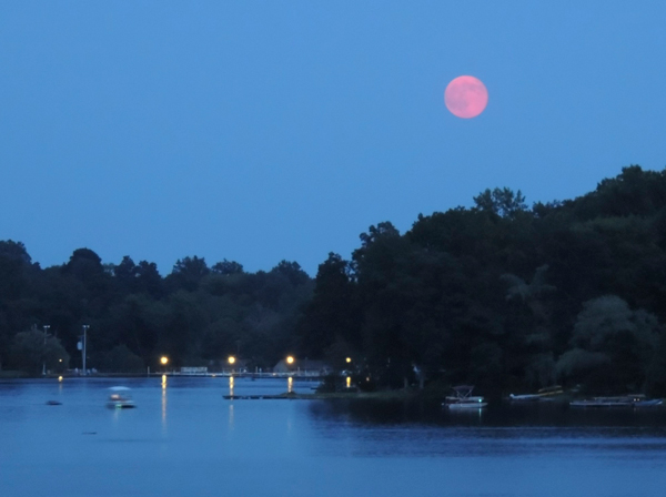 The Supermoon rising at 8:58 PM on July 12.