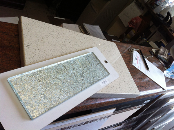Picking out tile on Saturday, August 23.