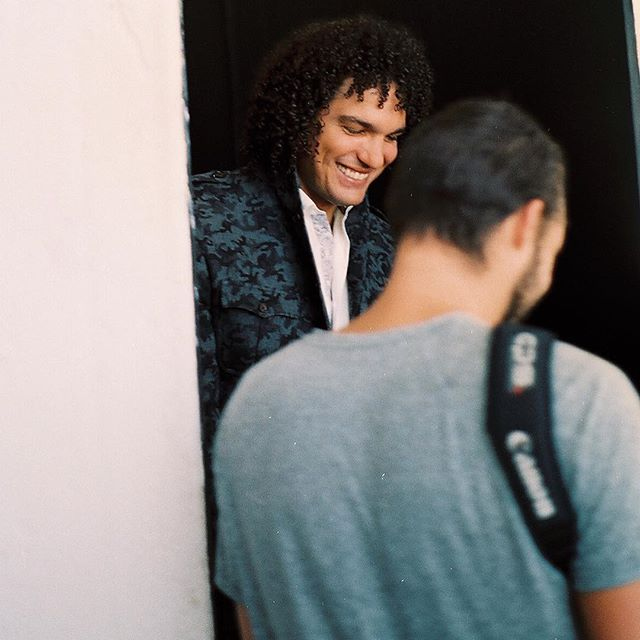 Some BTS of @varejaoanderson17 when he stopped by @tjdstudio for his Dark portrait. #35mm #fuji