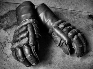 Old boxing gloves to fight against Open Source GIS elitism.