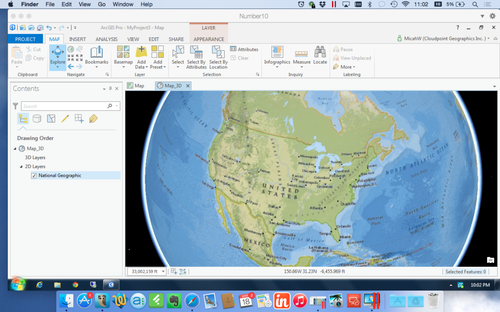 ArcGIS Pro Running on Parallels for Mac in 3D