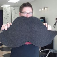 Though often bearded, I've never seen a mustache this big!