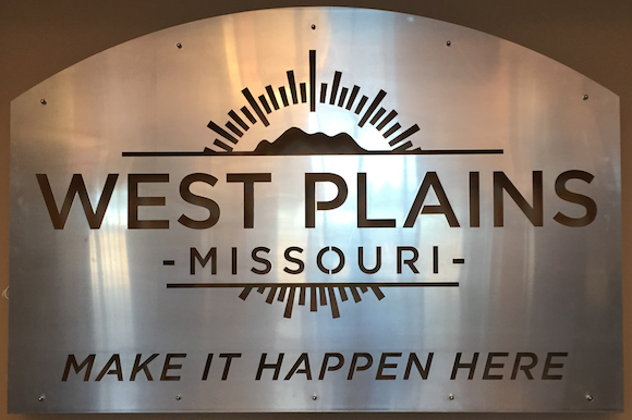 Beautiful Sign in a wonderful City Building in West Plains, Mo.