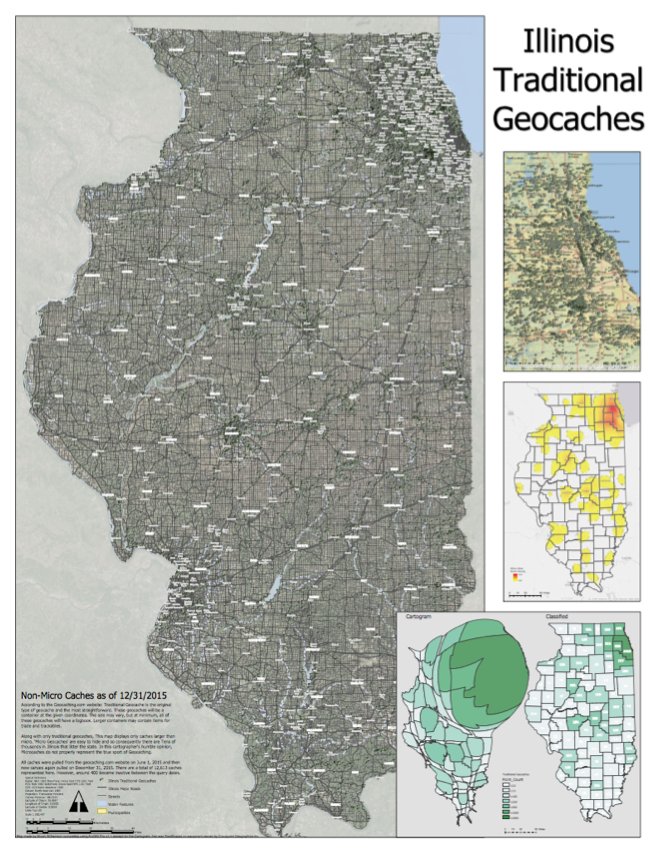 Screenshot of 100 MB PDF Map of all Illinois Geocaches.