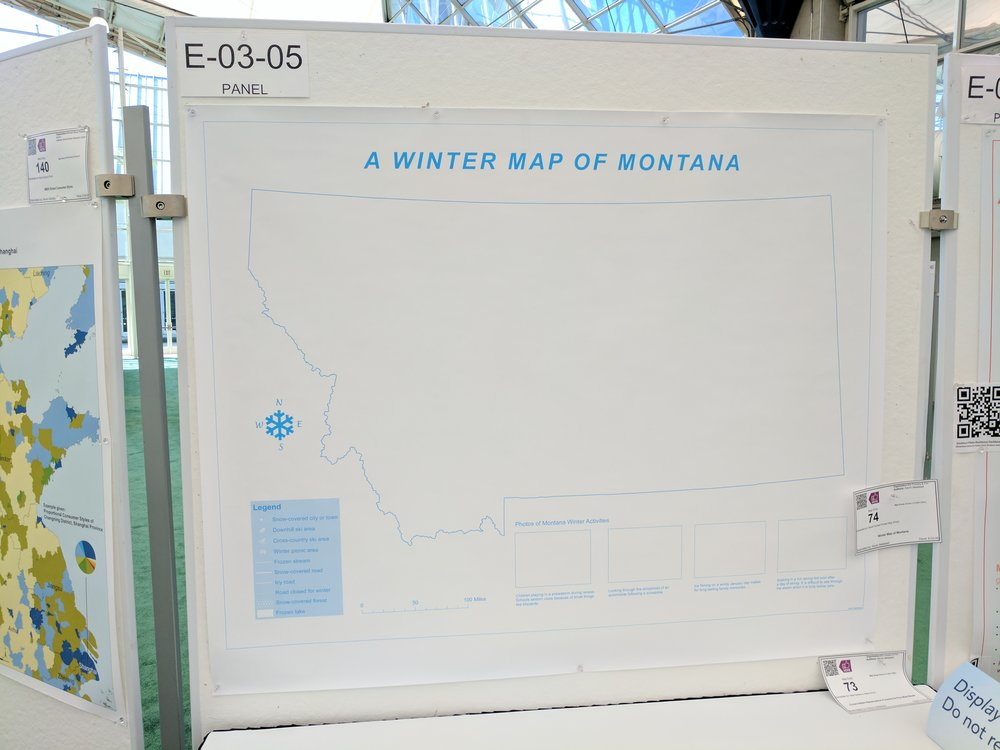 Winter Map of Montana
