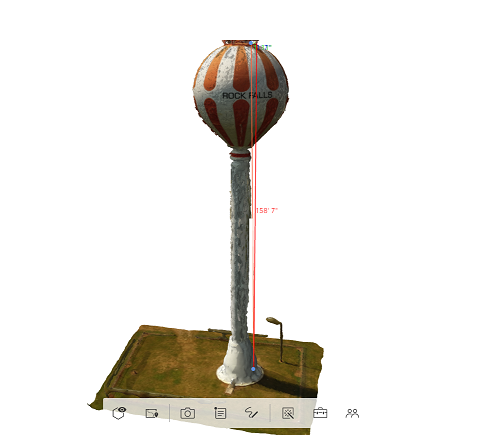 Here is a sample of a water tower model which was used for analyzing paint defects.  The Client chose to spot repair these areas instead of repainting the entire tower saving over $400,000 in next year's budget.