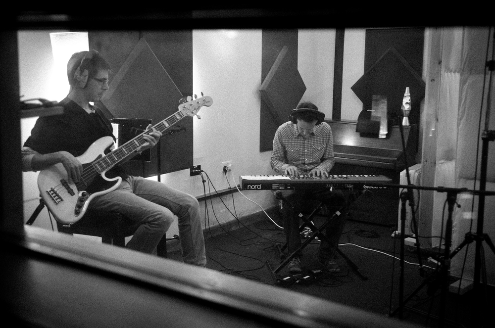Chris and Jon at Three Circles Recording Session