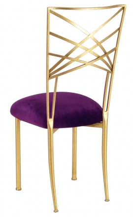 Gold Fanfare Purple Velvet