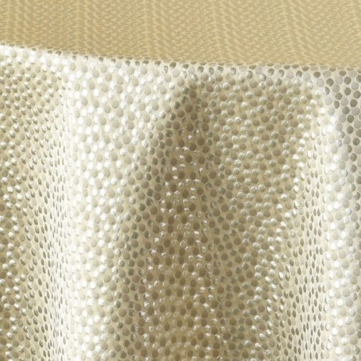 "Champagne Dots  120""R $59,132""R, King Drapes $69"