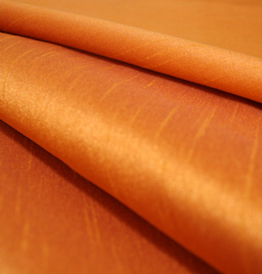 "Faux Silk Citrine Orange  132""R $49"