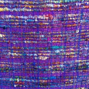 "Grape Raw Silk Metallic Weave  90"" Square $35"