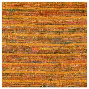 "Saffron Raw Silk Metallic Weave  90"" Square $35"