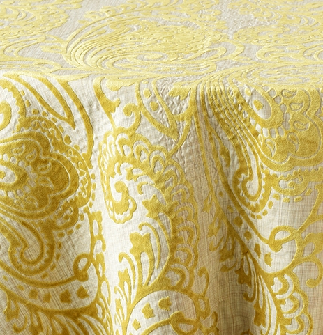 "Citrus 132""R $75, 108"" x 156"" King Drape $95"