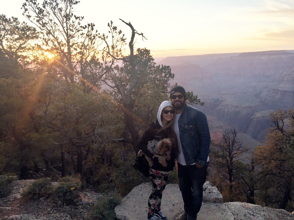 Birthday surprise at the beautiful Grand Canyon.