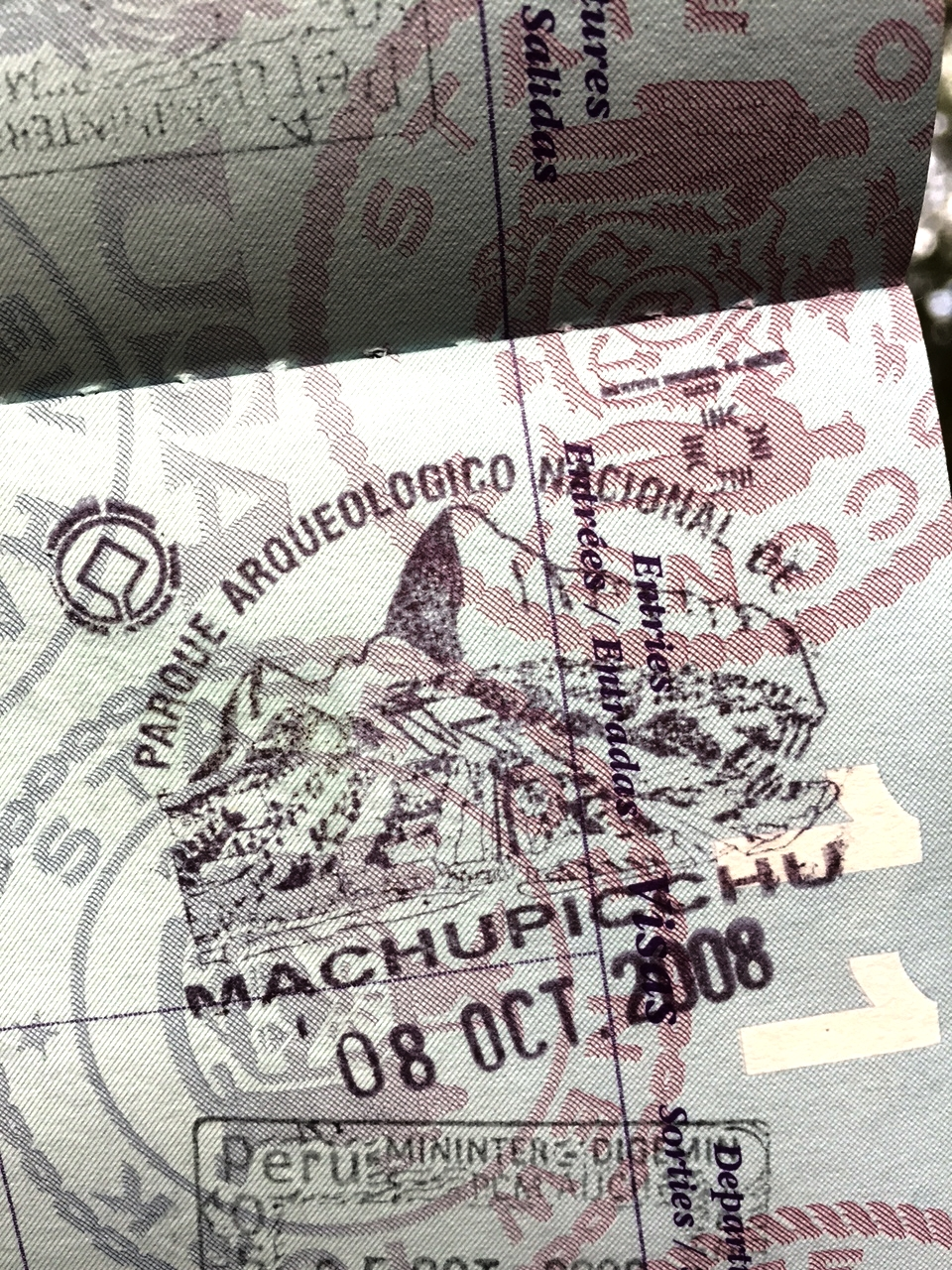 Special Machu Picchu passport stamp