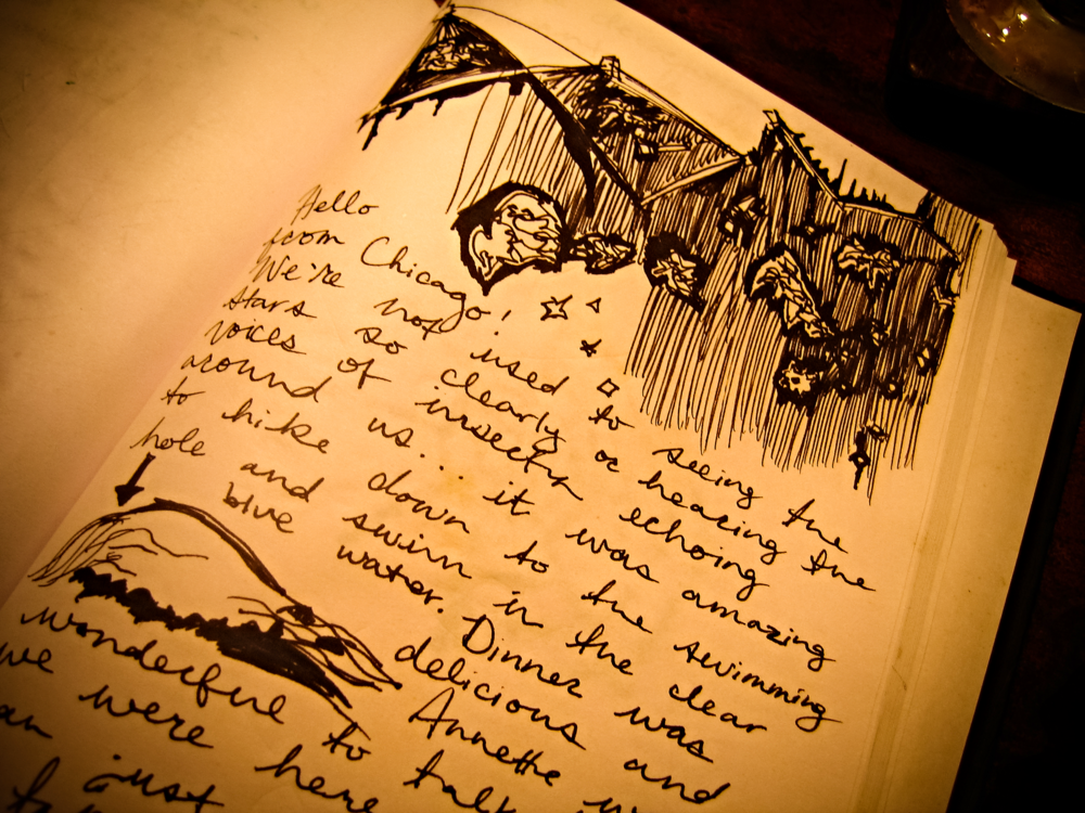 Their Guest Book was filled with so many sweet stories and drawings, it was obvious that this was a special place to many travelers
