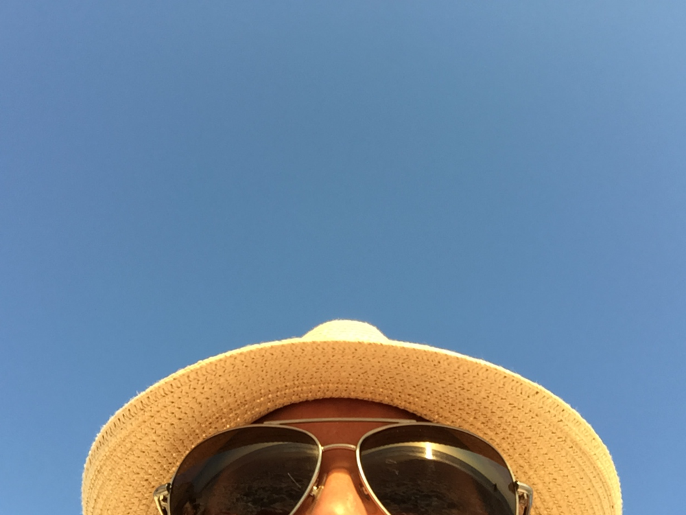 My idea of a selfie: a semi-selfie with glasses and a hat!