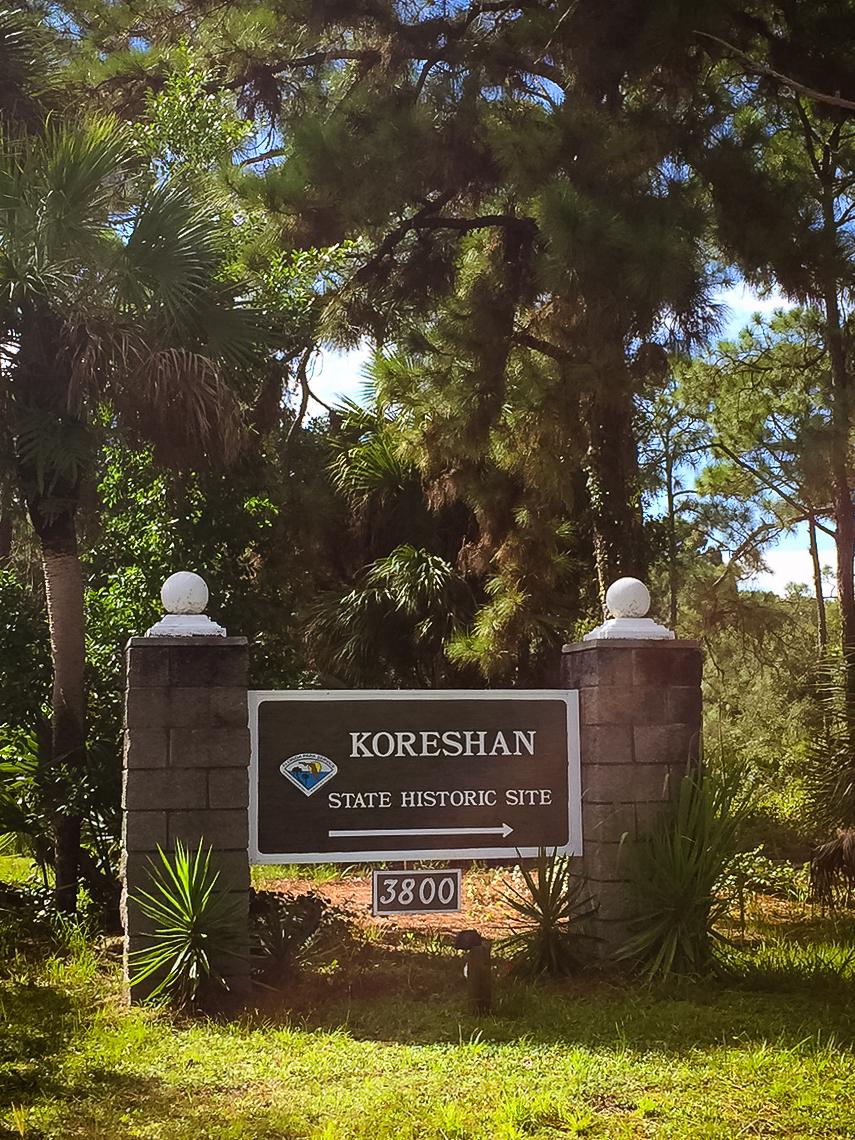 Entrance Koreshan State Historic Site