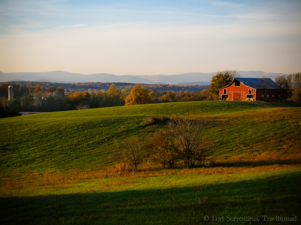 My favorite view near my home in Virginia, looking west toward the Blue Ridge mountains.