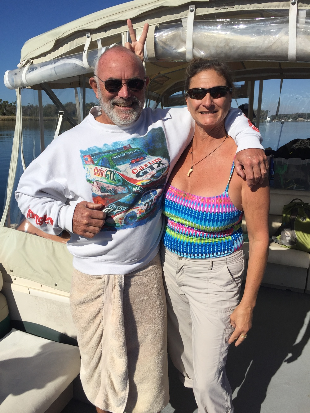 Captains Mike and Stacy Dunn of Manatees in Paradise