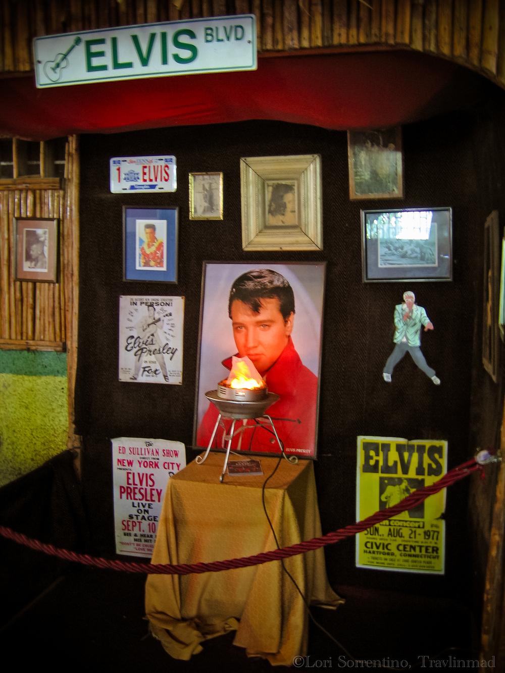Elvis shrine in Dominical Costa Rica