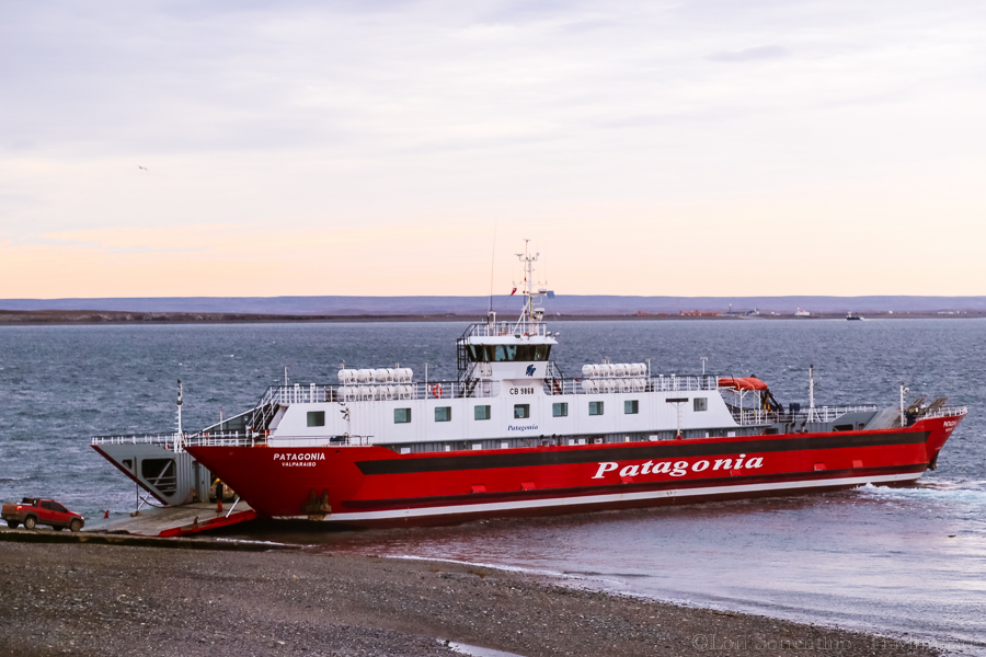 You'll cross the Straits of Magellan on the Patagonia ferry on your way to Ushuaia.About a dozen cars, tractor trailers and 50 or so passengers made the crossing.
