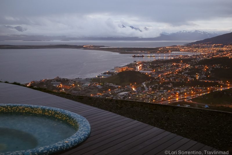 View from outdoor pool, Arakur, Ushuaia